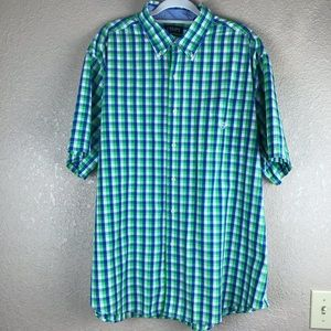 Chaps Plaid Button Down Shirt Size 2XB / 2TF